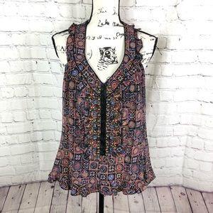 Nanette Lepore silk Embellished blouse